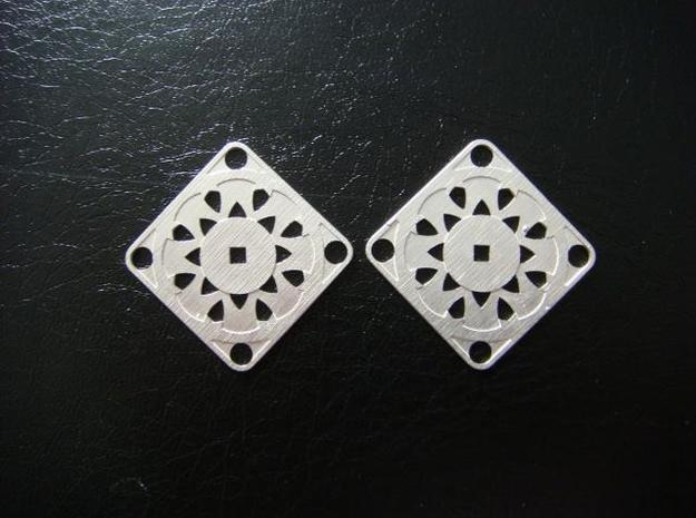 Elegant Earrings - Suspended Coin 3d printed Sterling Silver