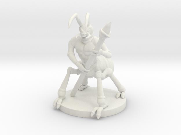 Manant: Warrior (medium Manant) in White Natural Versatile Plastic