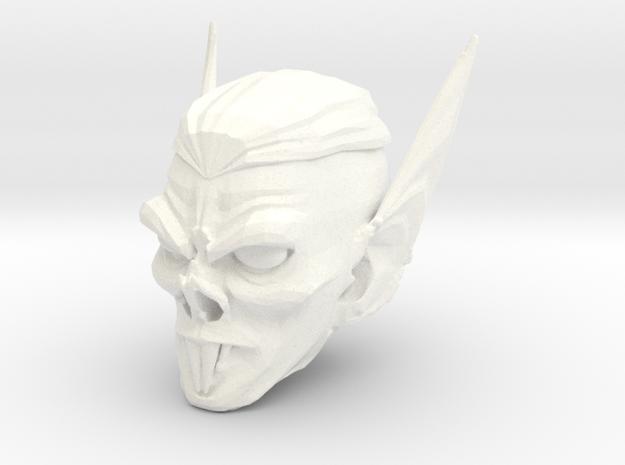 vampire head 3 in White Processed Versatile Plastic