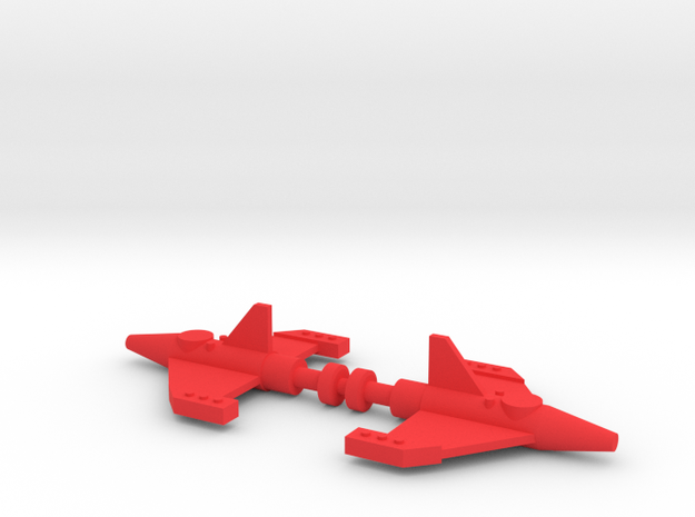 Giant Acroyear Acrocannon Missiles in Red Processed Versatile Plastic