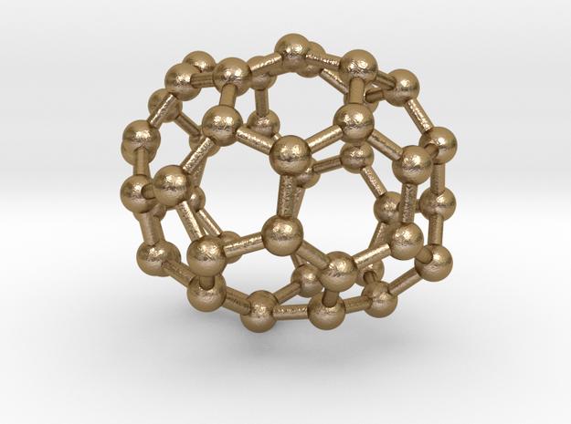 0677 Fullerene c44-49 C1 in Polished Gold Steel