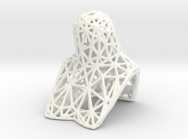 BJD BUST for MSD heads, lattice version in White Processed Versatile Plastic