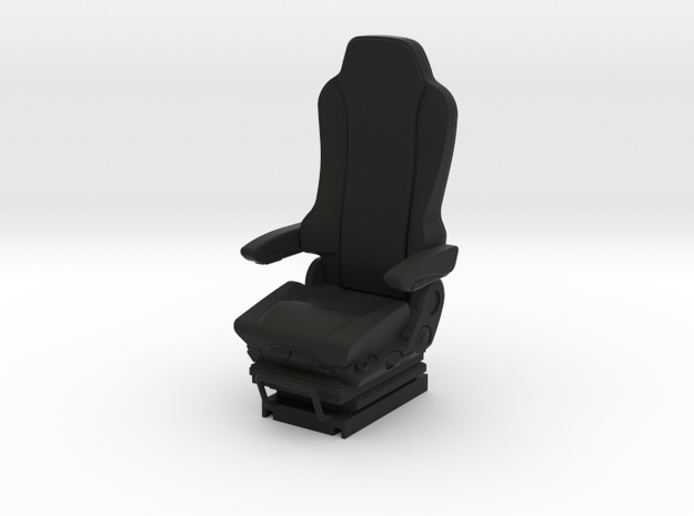 1/24 scale GRAMMER Truck seat  in Black Natural Versatile Plastic