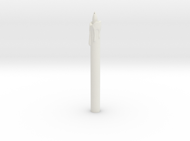 Candle in White Natural Versatile Plastic