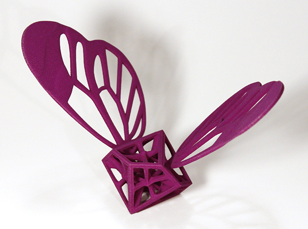 Lepi-Hedron in Purple Processed Versatile Plastic
