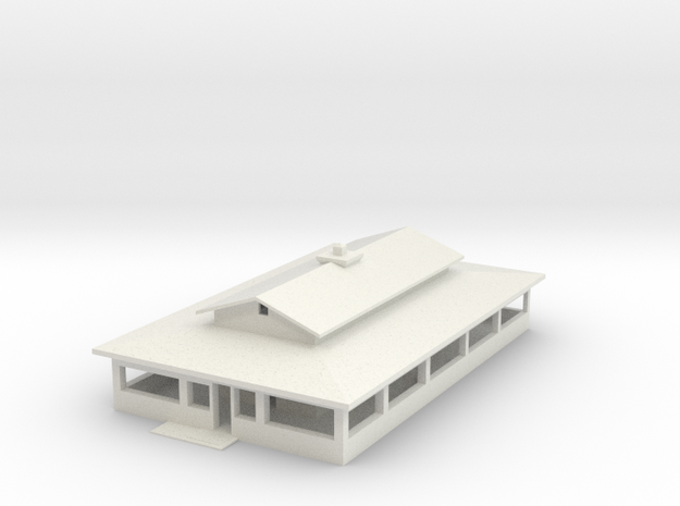 Schoolhouse With Roof in White Natural Versatile Plastic