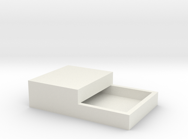15x11mm Speaker Resonance Box - Double Width in White Natural Versatile Plastic