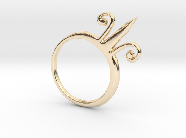 Alchemical Gold 02 (Loop Available) in 14k Gold Plated Brass: Small