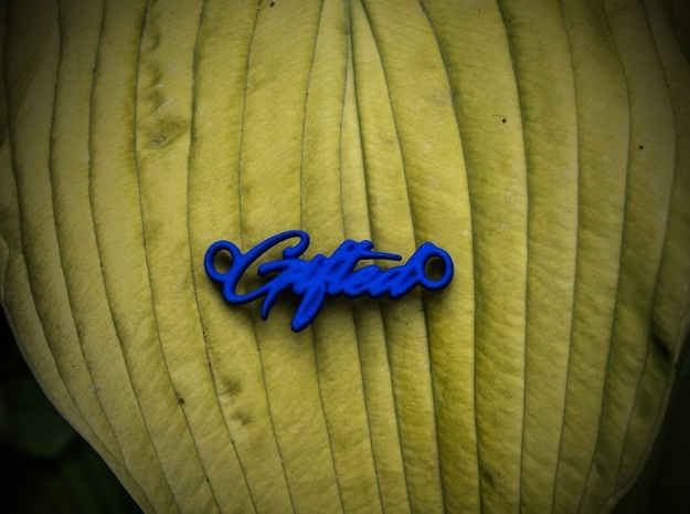 Gifted Pendant - Vivid Colors in Blue Processed Versatile Plastic
