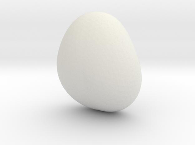 Personalizable Name Decoration in White Natural Versatile Plastic: Small