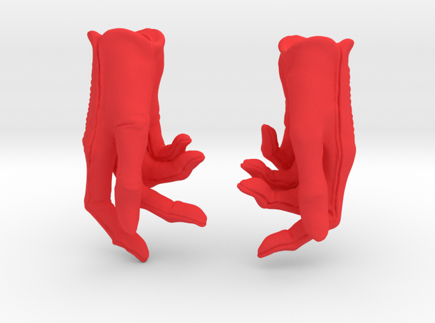 Phone Gloves in Red Processed Versatile Plastic: Small