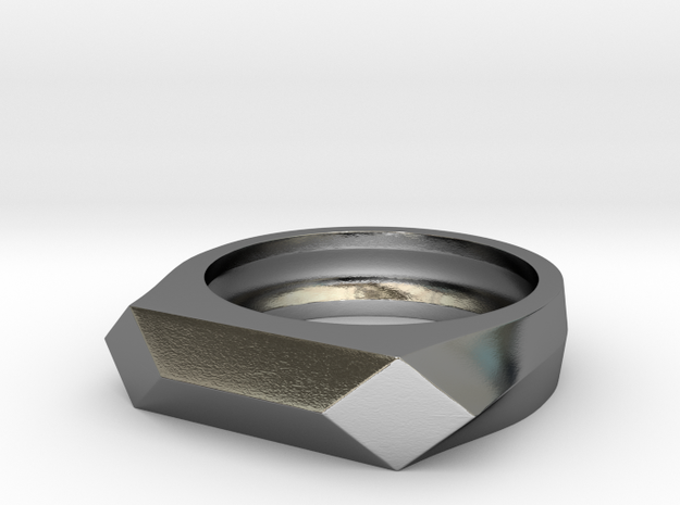 Gamora's Faceted ring in Polished Silver