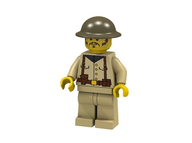 Brodie 3d printed British Infantry (Render of an example Usage)