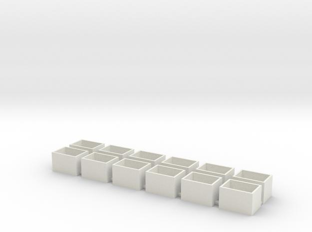 18x13x12 Speaker Box in White Natural Versatile Plastic