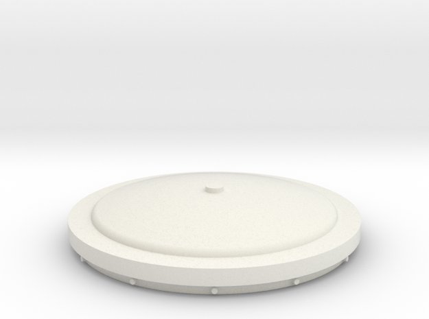 Small Tank Cap Bottom in White Natural Versatile Plastic