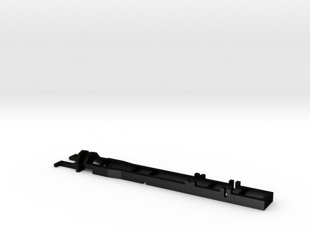 1:87 Herpa RC- frame 3 axle 53-15 mm  in Matte Black Steel