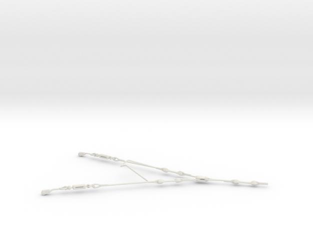 1/16 DKM UBoot VIICRigging Isolator in White Natural Versatile Plastic