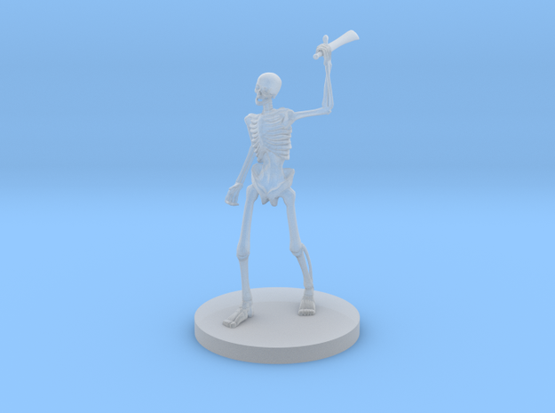 Skeleton  in Smooth Fine Detail Plastic