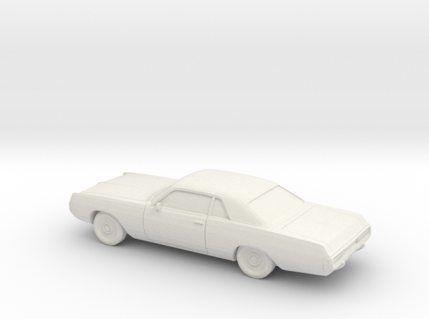 1/76 1971-72 Dodge Polara Coupe in White Natural Versatile Plastic