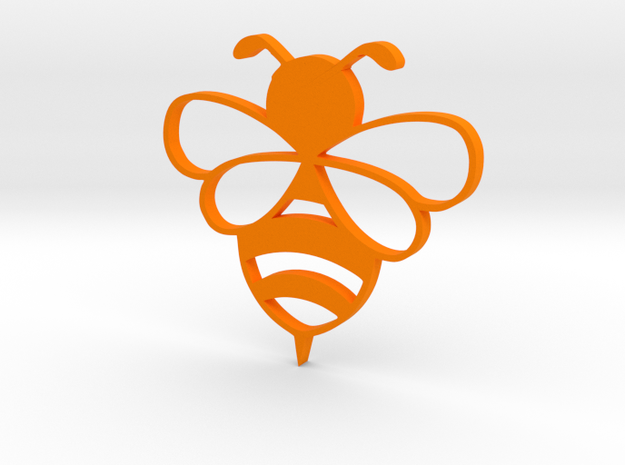 Honey bee pendent in Orange Processed Versatile Plastic