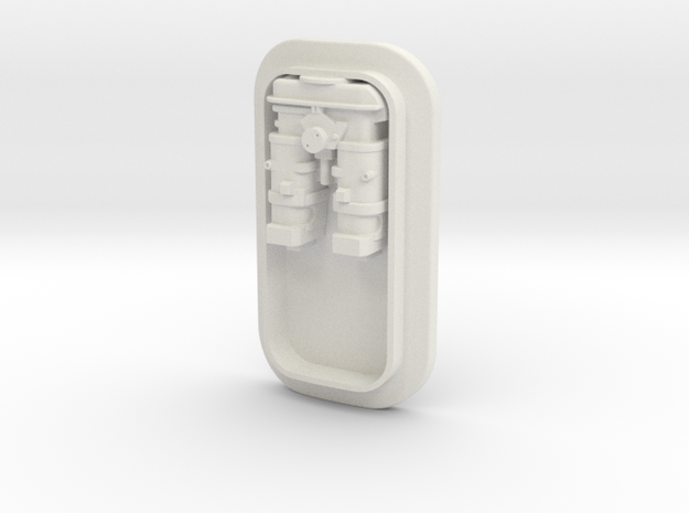 Large Tank Small Insert with Greeble in White Natural Versatile Plastic