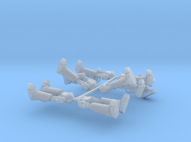 Metal Marine Bionic Legs x6 in Smooth Fine Detail Plastic