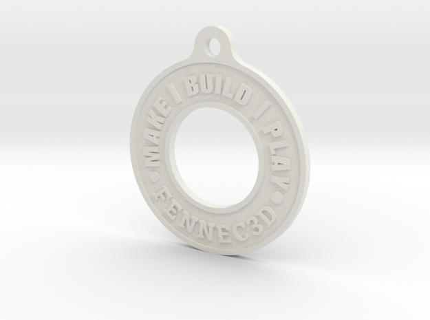 Make Build Play Fennec3D bag tag / keychain / keyr in White Natural Versatile Plastic
