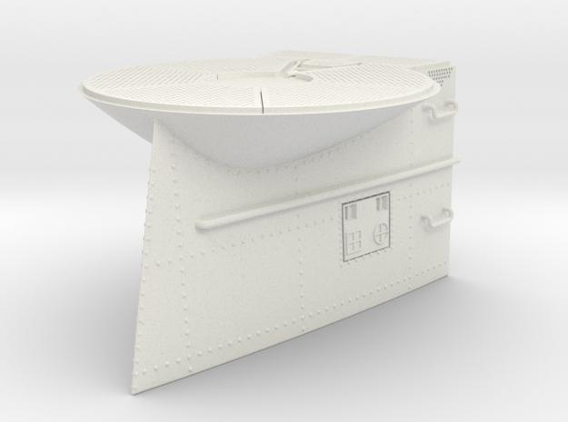 1/11 DKM U-Boot VII/C Conning Towerpart 2 in White Natural Versatile Plastic