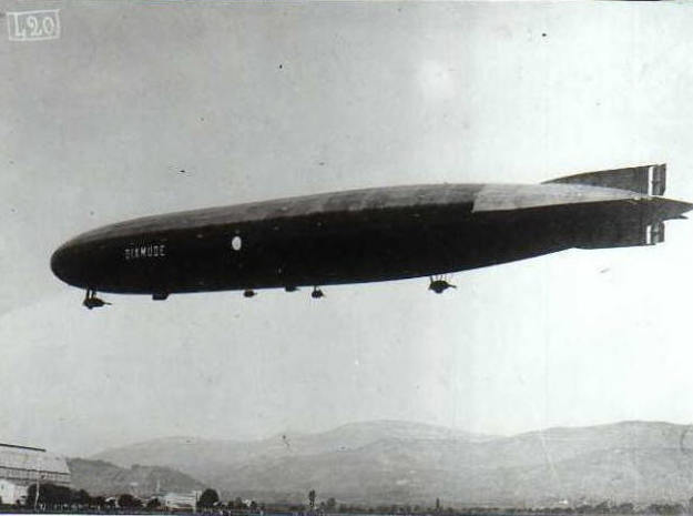 "Zeppelin LZ114 ""Dixmude"" 1/1250 scale (SLS) in Black Natural Versatile Plastic: 1:1250"