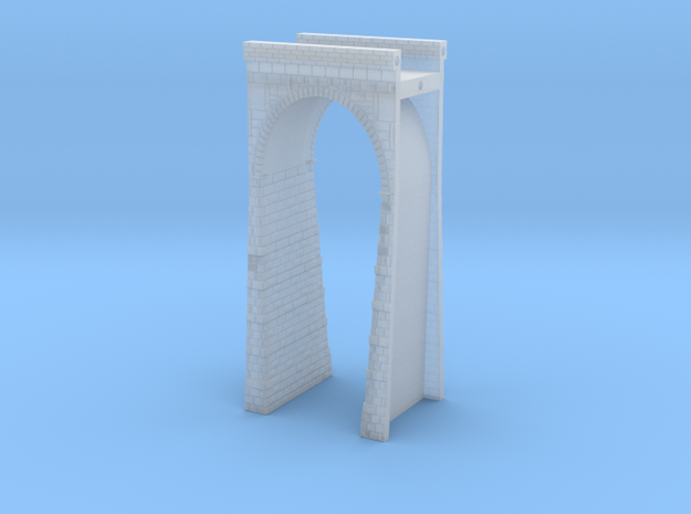 T-scale Stone Viaduct Section - 30mm Straight in Smooth Fine Detail Plastic