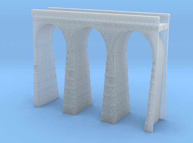 T-scale Stone Viaduct Section (3 Arches) - 90mm St