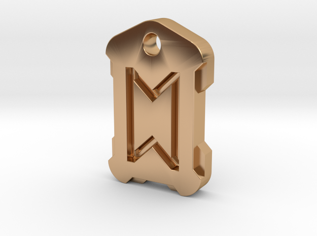 Nordic Rune Letter ST in Polished Bronze