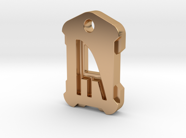 Nordic Rune Letter Y in Polished Bronze