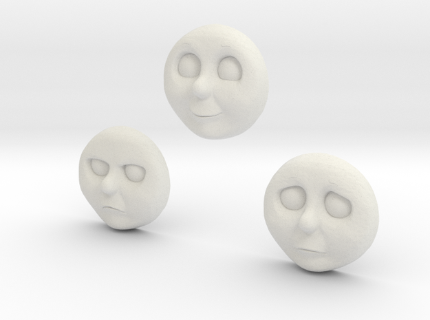 Character No 6 - Faces [H0/00] in White Natural Versatile Plastic