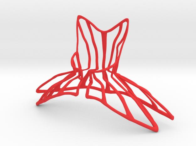 Urban Corset Cage in Red Processed Versatile Plastic: Small