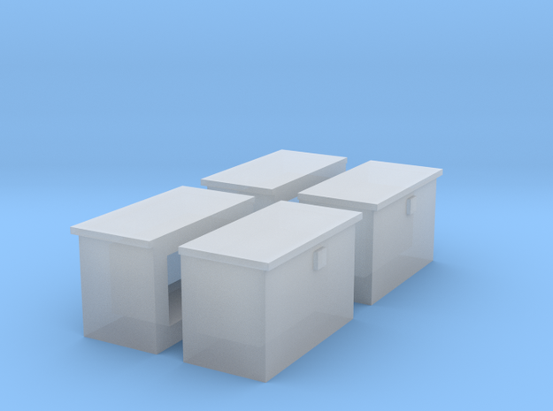 Fire/Tool boxes for dozers in Smooth Fine Detail Plastic