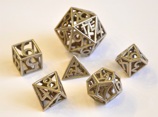 Numbers Only Dice Set - Balanced