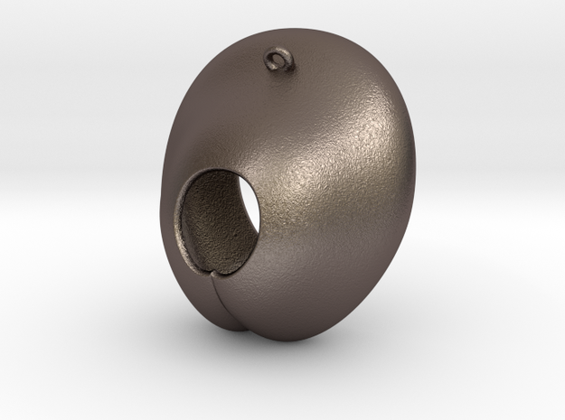 Electrode Customized 02 in Polished Bronzed-Silver Steel