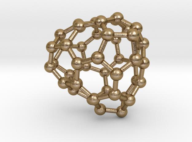0688 Fullerene c44-60 c1 in Polished Gold Steel