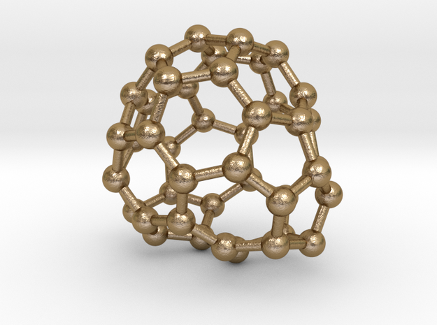 0689 Fullerene c44-61 c1 in Polished Gold Steel