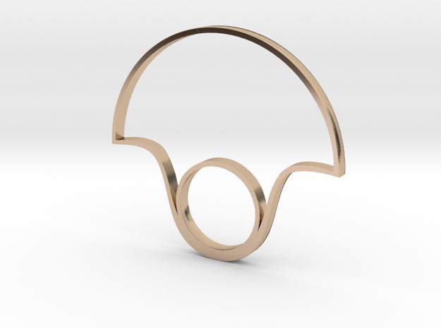 fan ring  in 14k Rose Gold Plated Brass: 6 / 51.5