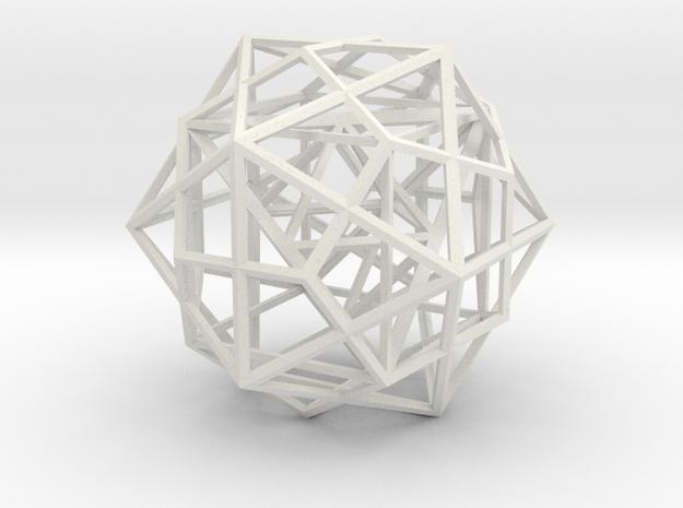 Nested Polyhedra, Medium in White Natural Versatile Plastic