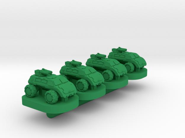 Legionaire Light Wheeled Unit - 3mm in Green Processed Versatile Plastic