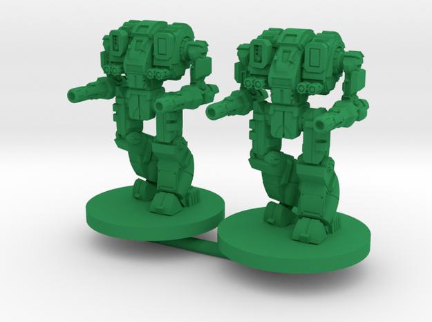 Mattock B Combat Walker - 3mm in Green Processed Versatile Plastic