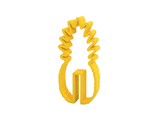 Cookie cutter (cookie hanging on edge of coffee cu in Yellow Processed Versatile Plastic
