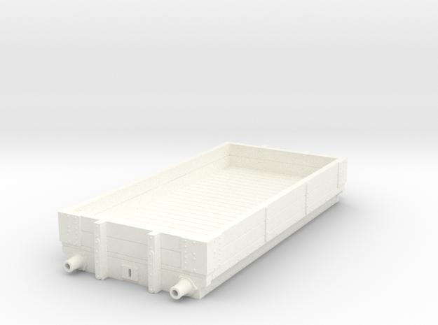 LNWR 2 plank Diagram 2 in White Processed Versatile Plastic