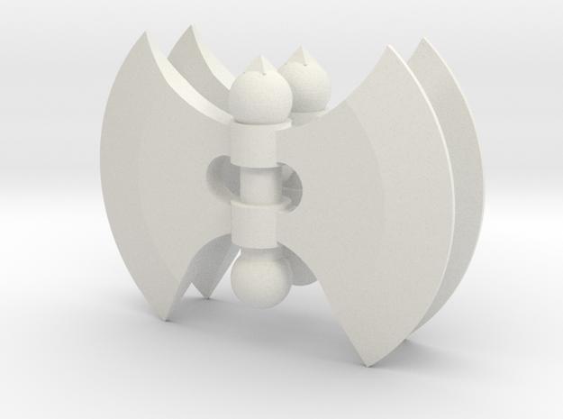 Battle Axe Hand Set for ModiBot in White Natural Versatile Plastic