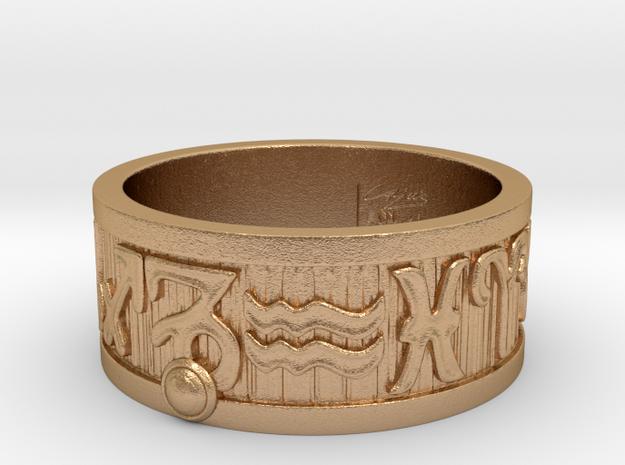 Zodiac Sign Ring Capricorn / 21mm in Natural Bronze