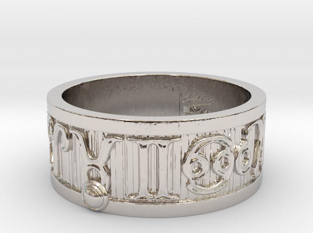 Zodiac Sign Ring Taurus / 21.5mm in Rhodium Plated Brass
