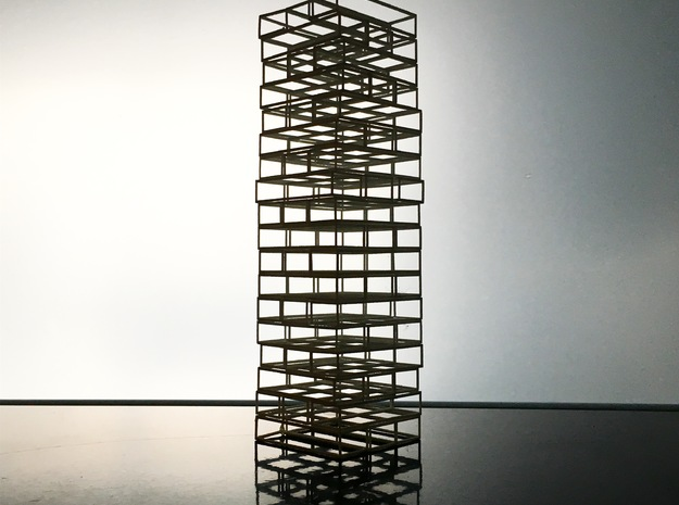 Void Jenga in White Natural Versatile Plastic